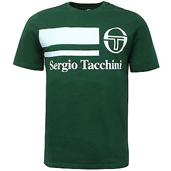 Sergio Tacchini Mens Falcade T-Shirt Graphic Logo Casual Green Top 38722 507