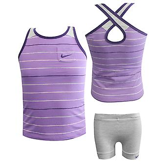 Nike 2 kpl Vauvan liivit Shortsit Set Kit Girls Purple 412803 535