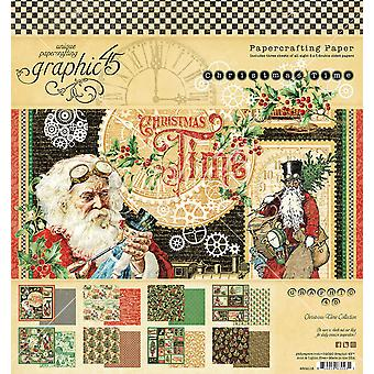 Graphic 45 Christmas Time 8x8 Inch Paper Pad