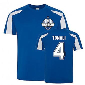 Sandro Tonali Brescia Urheiluvalmistus jersey (sininen)