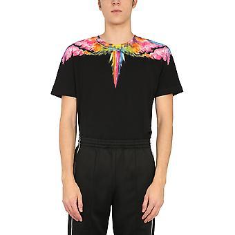 Marcelo Burlon Cmaa018r21jer0021084 Men's Black Cotton T-shirt