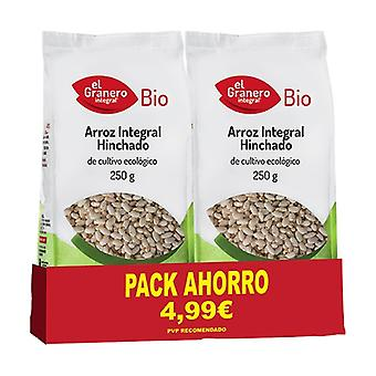 Organic Puffed Brown Rice Pack 2 units of 250g