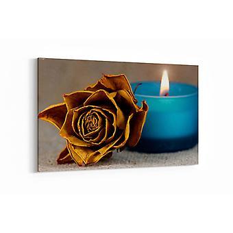 Schilderij - Een vervaagde roos — 90x60cm