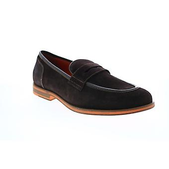 Geox U Bayle Mens Brown Loafers & Slip Ons Penny Chaussures