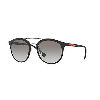 Prada Sport Linea Rossa SPS04R DG0/0A7 Czarne gumowe/szare okulary gradientowe
