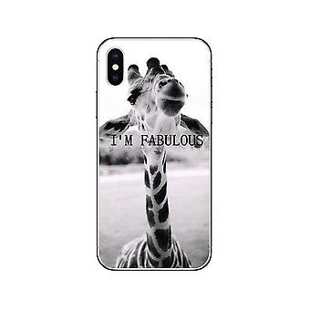 iPhone 12 & 12 Pro shell funny giraffe with text I am fabulous