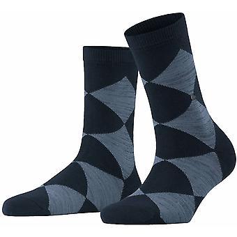 Burlington Multi-colour Bonnie Socks - Marine Navy