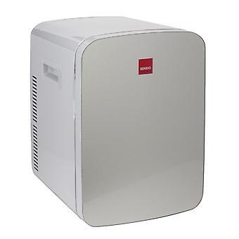 Sensio Home 15L Mini Fridge Cooler & Warmer | AC+DC Power - 12v, UK & EU Plug | Compact, Portable and Quiet (Silver)