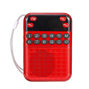 Portable FM 70-108MHZ Radio Digital Display Power off Memory TF Card Speaker MP3 Player