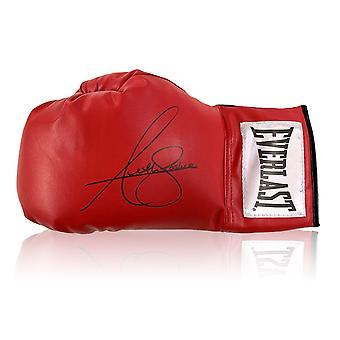 Anthony Joshua undertecknat röd boxning handske
