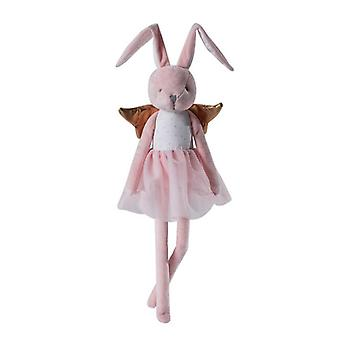 The Bunny Beautiful Cream Cotton Linen Plush Doll With Floppy Ears, Arms,legs