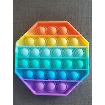プッシュポップバブルそわそわ感覚おもちゃ、自閉症の特別なニーズストレスリリーバーシリコーンストレスリリーバーおもちゃ