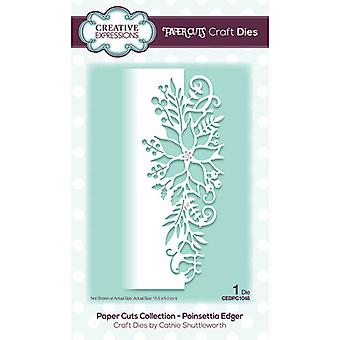 Creative Expressions Paper Cuts Collectie Cutting Dies - Poinsettia Edger