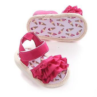 Summer Toddler Flats Premium Soft Rubber Sole Anti-slip Flower Lace Princess