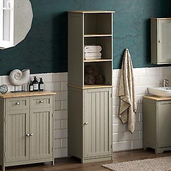 Priano 1 Door 2 Shelf Freestanding Tall Cabinet, Grey