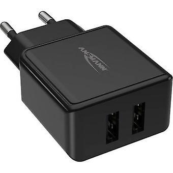 Ansmann HomeCharger HC212 1001-0106 USB-laddare Nätuttag Max utgångsström 2400 mA 2 x USB 2.0-port A
