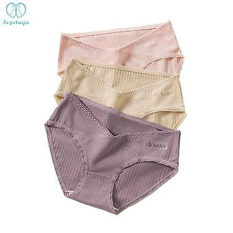 Sweet Cotton With Lace Maternity Panties Underwear Clothes For Pregnant Women