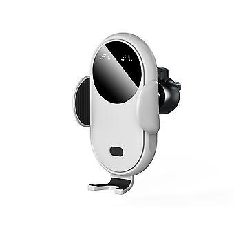 Kablosuz araç şarj cihazı otomatik kelepçeleme hava deliği telefon tutucusu