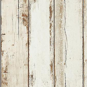 ASC White Wood Wallpaper