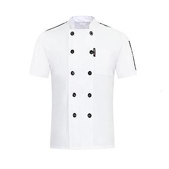 Unisex Casual Soft Chef Takit, Double Breasted Keittiö Ravintola Ruoka