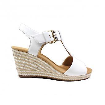 Sandales compensées Gabor Karen 824-60 White Leather Womens