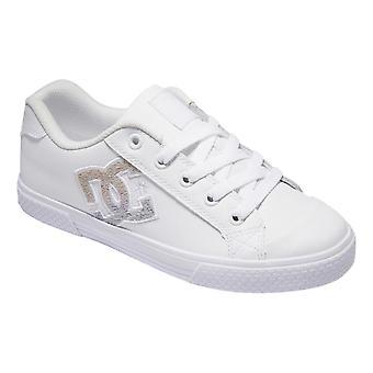 DC Chelsea Shoes - White / Rainbow Sparkle