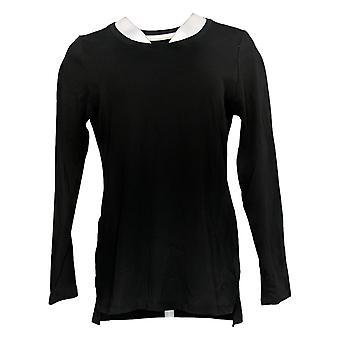 Isaac Mizrahi Live! Women's Top Essentials Pima Cotton Knit Black A389762