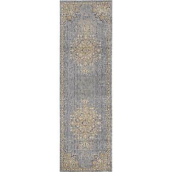 8' מכונה אפורה צפחה ארוג וינטג מסורתי מקורה רץ שטיח