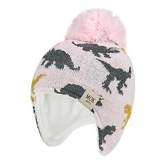 New Autumn/winter Dinosaur Jacquard/girls Ear Woolen Hat