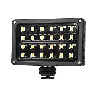 Bärbar led-fyllningsvideolampa 24st pärlor justerbar ljusstyrka med skärmspridare