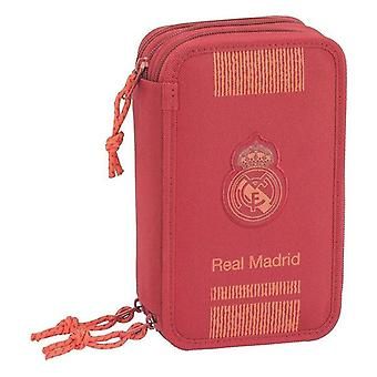 Kolminkertainen lyijykynäkotelo Real Madrid C.F. Punainen (41 kpl)