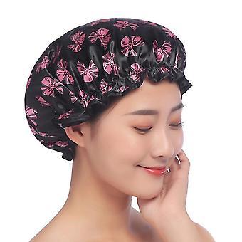 Waterproof Bath Hat Elastic Printing Shower Hair Cover