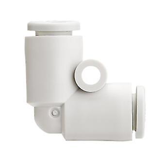 SMC neumática codo adaptador de tubo a tubo, pulse en la conexión A 6 milímetros, B 6Mm