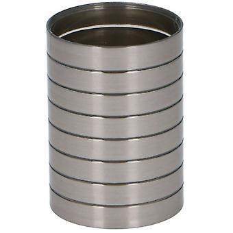 tazza da bagno 7,5 x 10,5 cm argento in acciaio inossidabile