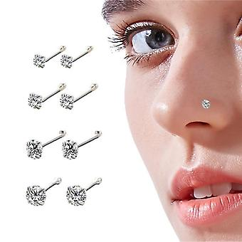 Woman Round Trend Zircon Nose Ring Body Piercing Jewelry