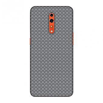Carbon Fibre Redux Stone Gray 7 Slim Hard Shell Case For Oppo Reno Z