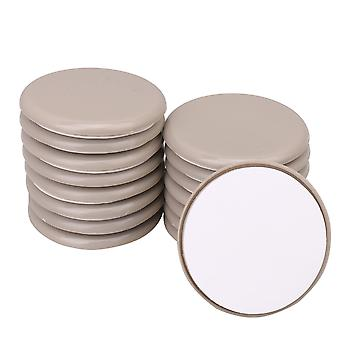 16 x Gray Durable Furniture Round Moving Slider 70x8mm for Bed Wardrobe
