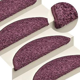 vidaXL Stair mats 15 pcs. Dark violet 65x21x4 cm