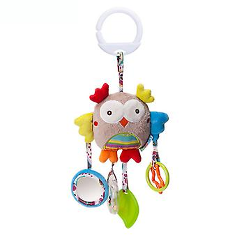 Owl Baby Hanging Toys Children Rattle Toys With Sound Paper Sound Ring Teether Mirror Soft Plush Rattling Doll