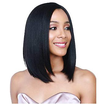 Women wig black middle short sight synthetic wigs w178
