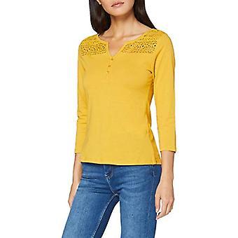 Springfield 7.pv20.Panadera Lace-c/04 T-Shirt, Yellow (Yellow 4), X-Small Woman
