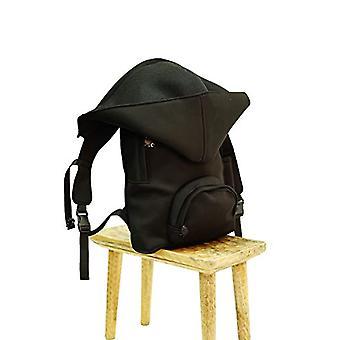 MorikukkoMorikukko Hooded Backpack Black BlackUnisex - AdultZainiNero (Black Black)33x8x40 Centimeters (W x H x L)