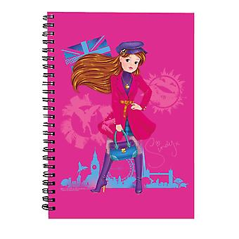 Sindy In London Spiral Notebook