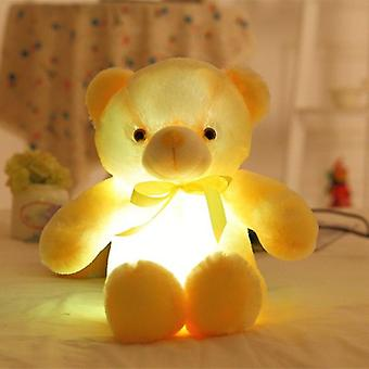 Giant Colorful Glowing Teddy Bear, Luminous Plush, Light Up Led Stuffed, Doll