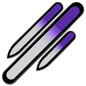 Jeu de 3 Glass Nail FIles C-BMS - Violet