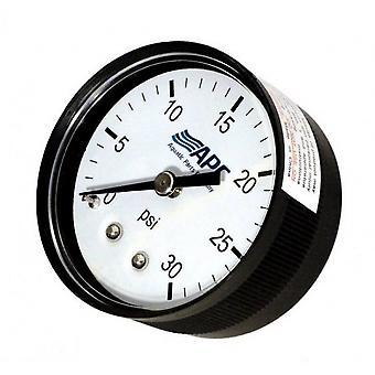 """APC APCPG3024B 0,25"""" rubinetto 2"""" faccia posteriore montaggio manometro"""