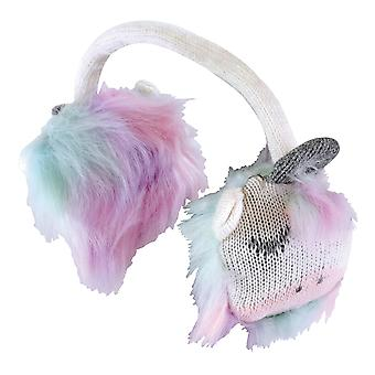 Girls fluffy winter warm unicorn earmuffs
