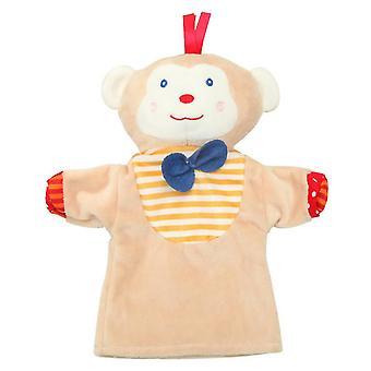 2Kpl apina 25 * 24cm söpö sarjakuva eläinten käsi nukke, vauvan pehmkotien nukke az15880