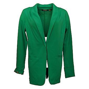 IMAN Global Chic Women's Blazer Reg Luxury Resort Green 690209