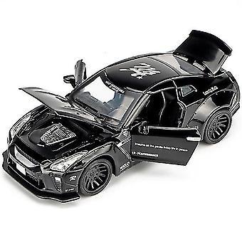 キッズカートイ 1:32 日産 GTR R35 ダイキャスト メタルカー ブラック